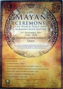 Mayan Ceremony in Oslo