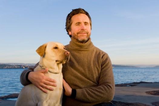 Geir Ålien og førerhunden Bonny