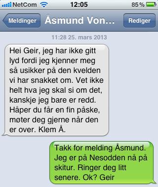 SMS fra Åsmund