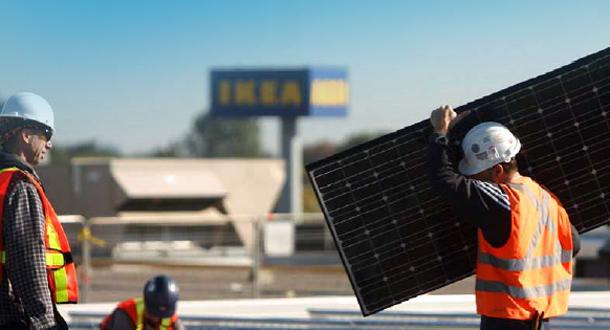 IKEA har montert mer enn 300 000 solcellepaneler på sine bygninger verden over.