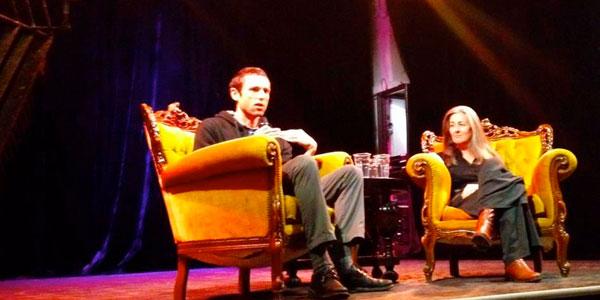 Charles Eisenstein og Polly Higgins i dialog på Månefisken i Oslo