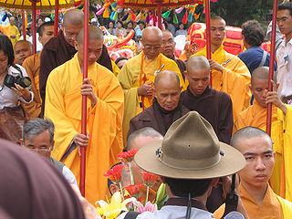 Thich Nhat Hanh i Vietnam. Foto fra Wikipedia.