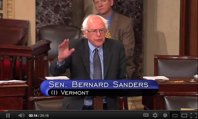 Senator Bernhard Sanders, Vermont