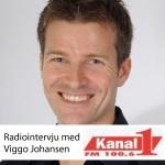 Foto - radiointervju med Viggo Johansen